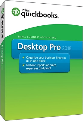QuickBooks Desktop Pro 2018 (1 User) [Boxed]
