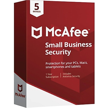McAfee Small Business Security 5 Device for Windows/Mac (1 User) [Download]