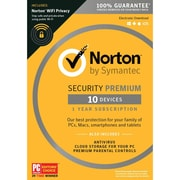 Norton Security Premium 10 Devices with WiFi privacy for Windows (1 User) [Download]