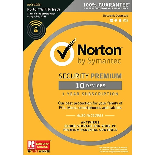 Norton Security Premium 10 Devices With Wifi Privacy For