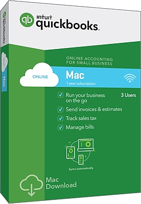 QuickBooks Online for Mac 2018 (1-3 Users) [Boxed]