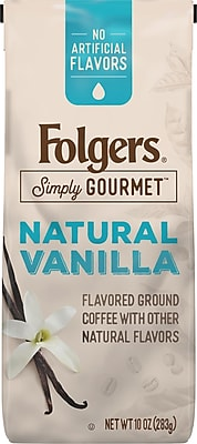 Folgers® Simply Gourmet™ Natural Vanilla Ground Coffee, Caffeinated, 10 Oz. (SMU00125)