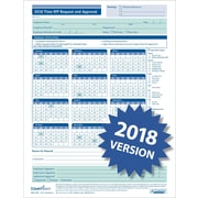 ComplyRight™ 2018 Time Off Request & Approval Calendar, Pack of 50