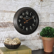 "FirsTime® 8.5"" Black Onyx Wall Clock"