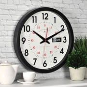 "FirsTime® 14"" Day Date Wall Clock"