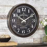 "FirsTime® 12"" Industrial Gears Wall Clock"