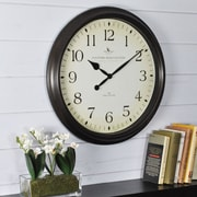 "FirsTime® Avery Whisper 20"" Round Wall Clock, Bronze"