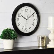 "FirsTime® Black Whisper 11"" Round Wall Clock, Black"