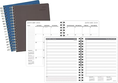 2018 Staples® Medium Daily Appointment Book/Planner, 6 7/8
