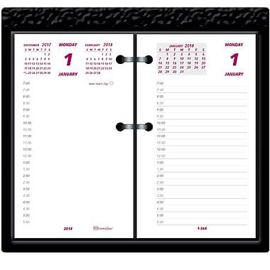 2018 brownline 3 12 x 6 daily calendar refill