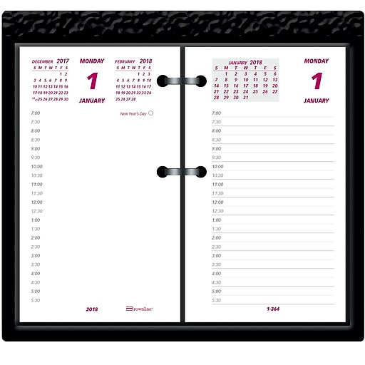 2018 brownline 3 1 2 x 6 daily calendar refill fits 17 style