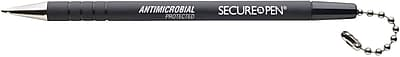 MMF Industries™ Secure-a-Pen® Antimicrobial Replacement Pen, Black, Each
