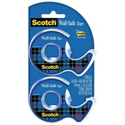 "Scotch® Wall-Safe Tape, 3/4"" x 600"", 2/Pack (183-DM2)"