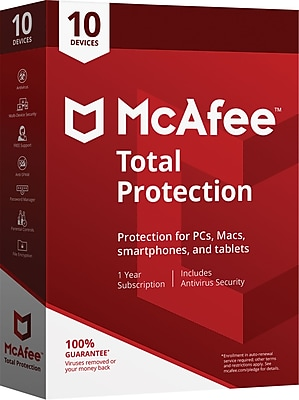 McAfee® Total Protection 10 Devices (1-10 Users) [Boxed]