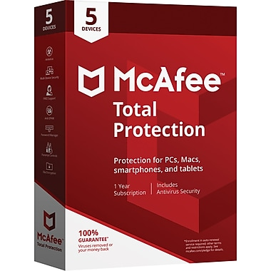McAfee® Total Protection 5 Devices (1-5 Users) [Boxed]