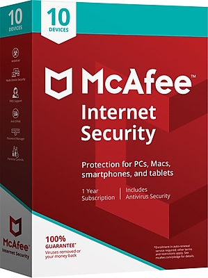 McAfee® Internet Security 10 Devices (1-10 Users) [Boxed]