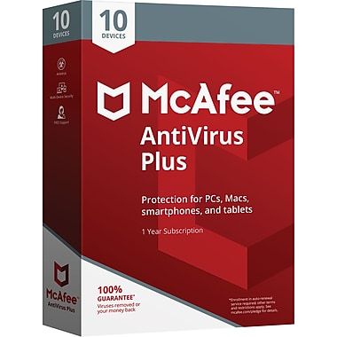 McAfee® AntiVirus Plus 10 Devices (1-10 Users) [Boxed]