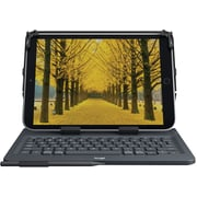 Logitech Universal Folio with Integrated Bluetooth 3.0 Keyboard for 9-10 inch Apple, Android, Windows Tablets