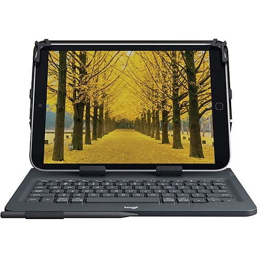 Logitech Universal Folio Integrated Bluetooth Keyboard for Tablets  (920-008334)