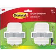 Command™ Broom Gripper, White/Gray,  2/Pack (17007-HW2ES)