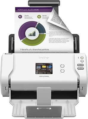 Brother ADS-2700W Wireless High-Speed Color Duplex Desktop Document Scanner with Touchscreen LCD