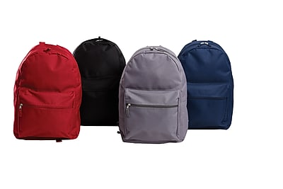 "Staples 17"" Assorted Backpacks, Case of 40 (51865)"