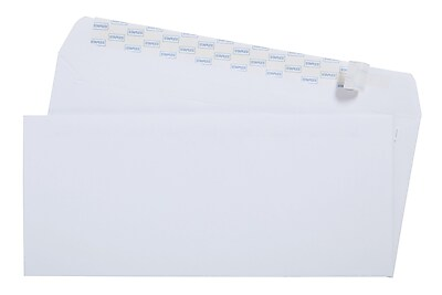 Staples EasyClose #10 Envelopes, 100/Box