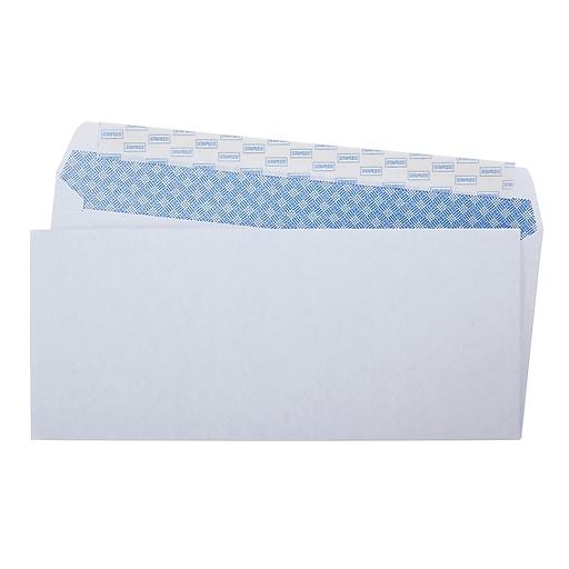 staples easy close 10 security tint envelopes 100 box 394057