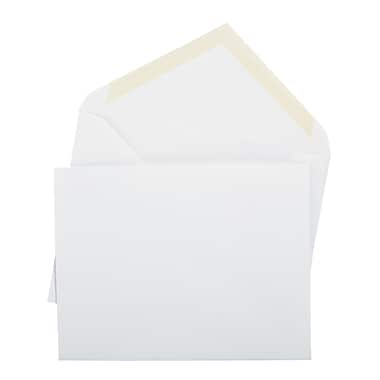Staples Invitation Envelopes with Gummed Closure, White, 100/Box (480330/19014)