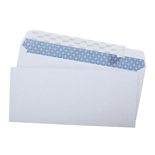 staples easyclose security tint 10 envelope 4 1 8 x 9 1 2 white
