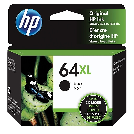 HP 64XL Black Original Ink Cartridge, High Yield
