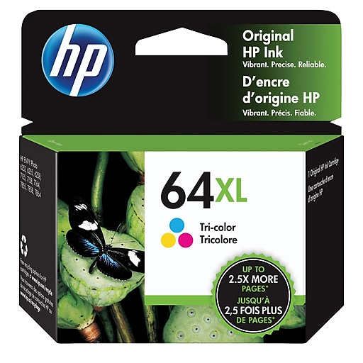 Hp 64xl Tri Color Original Ink Cartridge Staples
