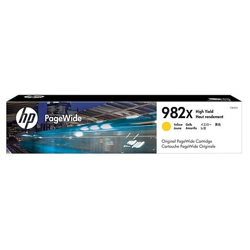 HP 982X Yellow Ink Cartridge, High Yield
