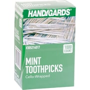 Handgards® Individually Wrapped Mint Toothpicks, 12 Boxes of 1,000/CT
