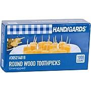 Handgards® Toothpicks Round Wood Unwrapped 12,000/CT (431409)