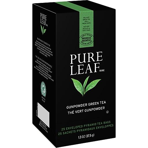 Pure Leaf Tea Bags Gunpowder Green Tea, 25/Box (ULV72434)