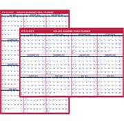 "2018-2019 AT-A-GLANCE® Academic Vertical/Horizontal Reversible Erasable Wall Calendar, 12 Months, 32"" x 48"" (PM36AP-28-19)"