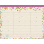 "2018-2019 AT-A-GLANCE® Garden Party Academic Monthly Desk Pad, 21-3/4"" x 17"" (D150-704A-19)"