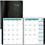 "2018-2019 Brownline® Monthly Academic Planner, Black, 14 Months, 11"" x 8-1/2"" (CA701.BLK-19)"