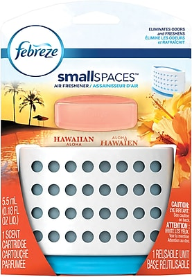 Febreze SmallSpaces Hawaiian Aloha Starter Kit Air Freshener (1 Count, 5.5 ml)