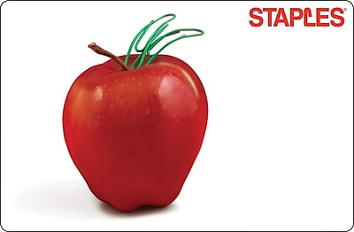 Staples Teacher Apple Gift Card $75