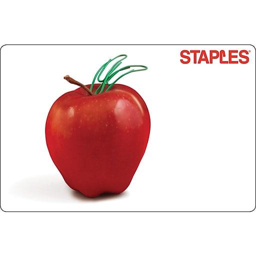 Staples Teacher Apple Gift Card $25