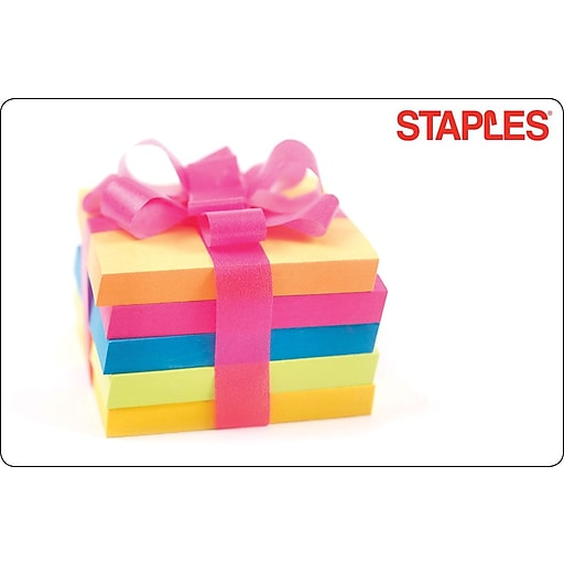 Staples Post It Present Gift Card $75