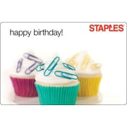 Staples Happy Birthday Gift Card 100