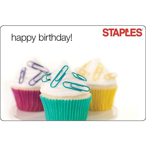 Staples Happy Birthday Gift Card 100 3p S7 Is