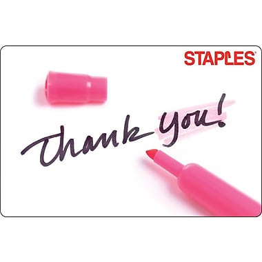 Staples Thank You Sharpie Gift Card $25