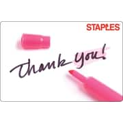 Staples Thank You Sharpie Gift Card