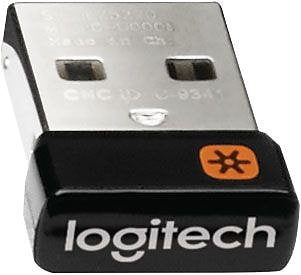 Logitech Unifying USB Receiver for Wireless Mouse and Keyboard, 6-Device (910-005235)