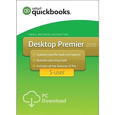 QuickBooks Desktop Premier 2018 5-User for Windows (1-5 Users) [Download]
