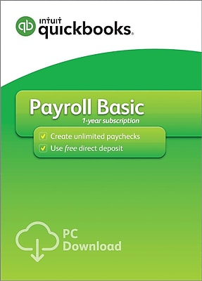 QuickBooks Desktop Payroll Basic 2018 for Windows (1 User) [Download]